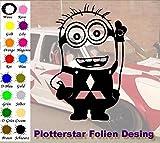 Minion 2 Mitsubishi Hater Domo Bitch Race Power PS JDm Sticker OEM Fun Aufkleber Hater