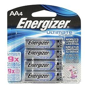 Energizer AA Lithium Batteries 4 count, Lasts 9 Times Longer