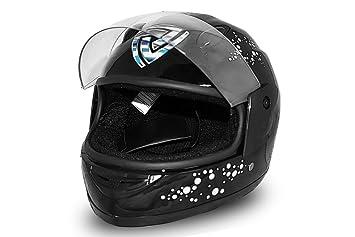 Vollvisier casque intégral pour enfant noir taille s casque de moto quad neuf