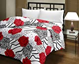 Snoopy Double Bed Rose Abstract Design Comforter, Quilt (250 GSM)
