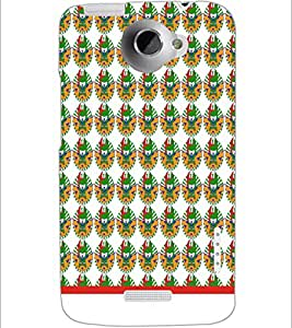 PrintDhaba Pattern D-1542 Back Case Cover for HTC ONE X (Multi-Coloured)