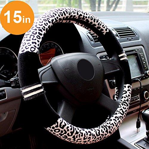 Commart Winter Car Fur Steering Wheel Cover Cute Steering Wheel Covers Car Accessories For Girls (Black) (Steering Wheel Covers For F150 compare prices)