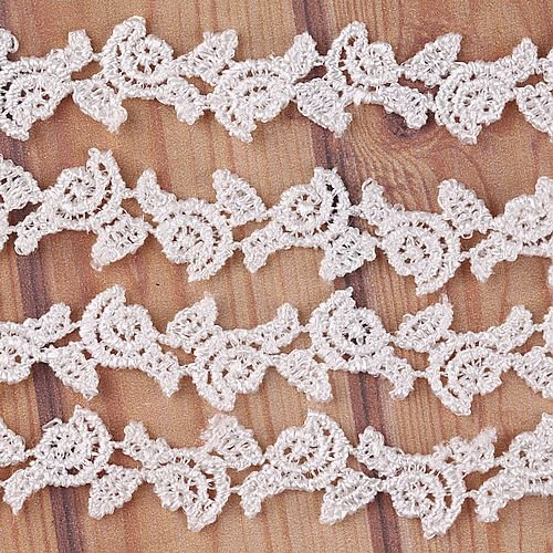 5 Yard Flower Pattern Lace Trim Sewing On 1/2'' Inch I0134-1