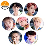 Youyouchard BTS Bangtan Boys Love Yourself ? [Her] ? [Tear] ? [Answer] BTS Badge Button Pin Brooches for BTS Army 2.3 Inch (58mm) - style2(H017PCS) (Color: H01*7PCS, Tamaño: 2.3in)