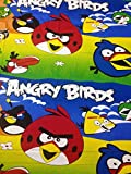 Mharo Rajasthan Angry Birds Printed Single Bedsheet with 1 Pillow Cover - Multicolor