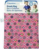Bumkins Reusable Sandwich and Snack Bag, Love Birds, Pink, 1-Pack