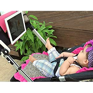 Baby Beehavin' Stroller Tablet (Ipad or Ipad 2 in Portfolio Case) Holder & Organizer