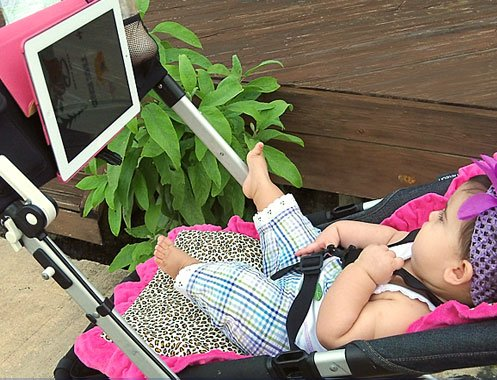Imagen de Tablet bebé Beehavin 'Cochecito (2 Ipad o Ipad en el asunto Cartera) Titular y organizador