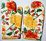 Floral Microwave Oven Gloves