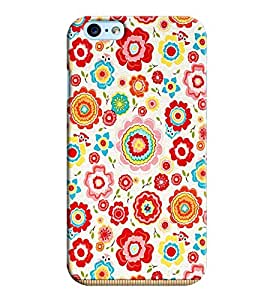 Clarks Flower Pattern Hard Plastic Printed Back Cover/Case For Apple iPhone 6s Plus