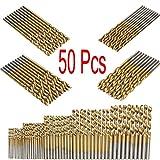 zmart 軽金属ドリル刃 50本 1 1.5 2 2.5 3mm各10本 チタンコート