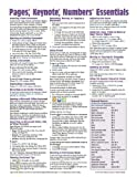 Pages, Keynote, & Numbers Essentials Quick Reference Guide (Cheat Sheet of Instructions, Tips & Shortcuts - Laminated Card)