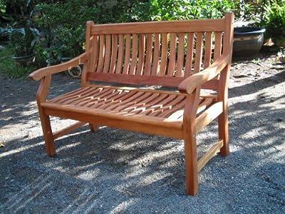 Gartenbank NEW JERSEY, 3-Sitzer, Holzbank aus Hartholz von Seedex auf Gartenmöbel von Du und Dein Garten