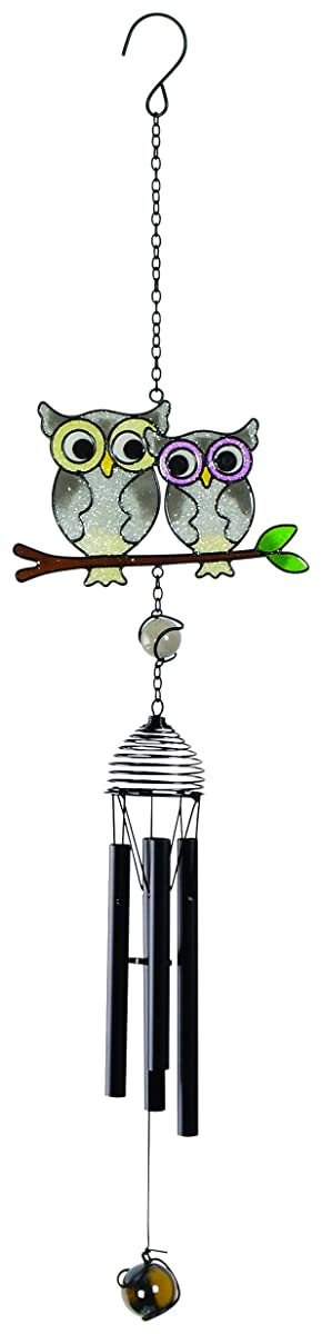 """Carson Home Accents 24"""" Mini Owls on Branch Wireworks Chime"""