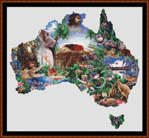 AUSTRALIA - Kreuzstich (Stickvorlage / Muster - PDF auf einer CD) [Cross Stitch Chart / Pattern - PDF on a CD]