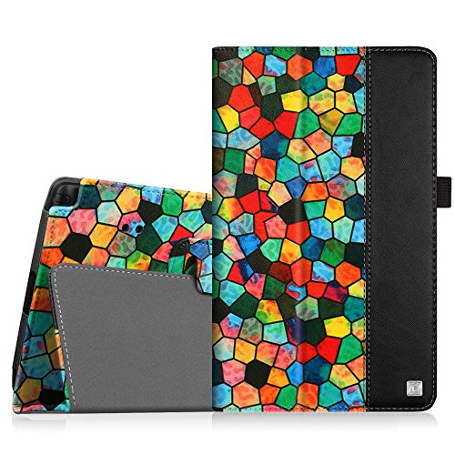 Fintie LG G Pad X8.3 (4G LTE Verizon Wireless VK815) Folio Case - Stained Glass Mosaic Premium PU Leather Cover with Auto Sleep/Wake Feature for LG G Pad X8.3-Inch 4G LTE Android Tablet, Black (Verizon 4g Lte Protective Case compare prices)