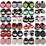 MiniFeet Premium Soft Leather Baby Shoes 0-6, 6-12, 12-18, 18-24 Months & 2-3 Years