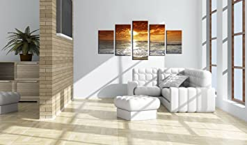 9 impression sur toile 200x100 cm cm grand format 5 5 parties image sur. Black Bedroom Furniture Sets. Home Design Ideas