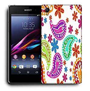 Snoogg Abstract Pattern White Printed Protective Phone Back Case Cover For Sony Xperia Z2