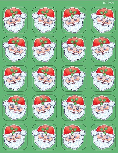 Teacher Created Resources Santa Stickers, Multi Color (1999)