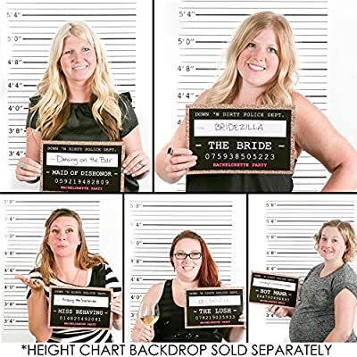 Girls Night Out Party Mug Shots - Bachelorette Party Photo Booth Props Party Mug Shots - 20 Count by Big Dot of Happiness, LLC