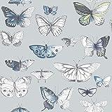 Duck Egg / Blue - 50-653 - Butterflies - Fresco - Graham & Brown Wallpaper