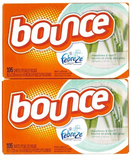 Bounce With Fresh Scent Dryer Sheets, Meadows & Rain, 105 ct-2 pk by Bounce (Bounce Meadows And Rain compare prices)