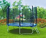 SixBros. XXL Garden Trampoline 12FT 3.70 m à - T370 Safety net Ladder Protection cover Type 2013