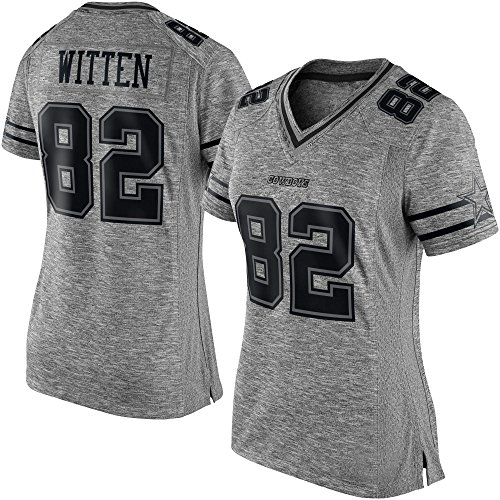 Generic 82 Witten Womens Dallas Unsigned Custom Cowboys Football Jerseys (Gray, L) (Custom Football Jersey compare prices)