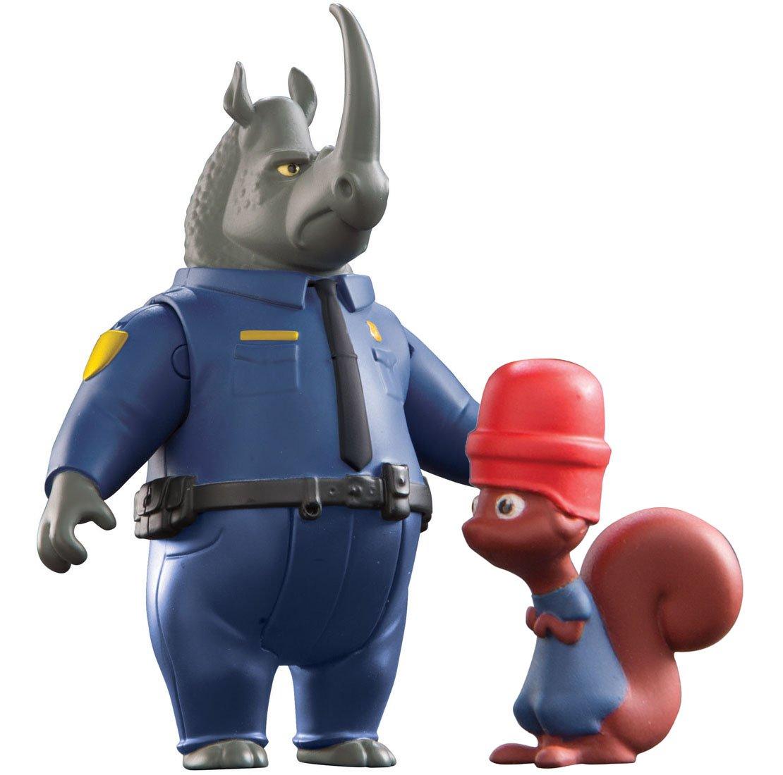 多美zootopia疯狂动物城犀牛警官与它的松鼠犯人