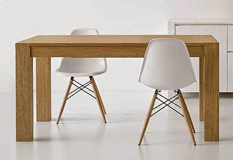 Mesa de centro de madera de roble, extensible, de cepillado, 180 x 90 cm, colour beige