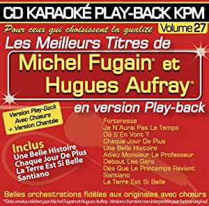 CD KARAOKÉ PLAY-BACK KPM Vol. 27 Michel Fugain & Hugues Aufray