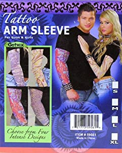 Costume Tattoo Sleeve (One sleeve per order) Various designs