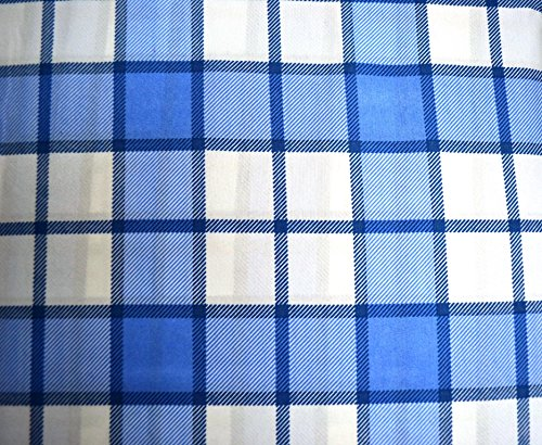 Campus College Checkered Blue White Twin Xl Extra Long College Dorm Sheets Microfiber front-148671