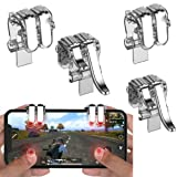 2 Pair Mobile Game Phone Controller, Gamepad Trigger Fire Button Aim Key L1 R1 L2 R2 Shooter Joystick for PUBG Knives Out Rules of Survival for iPhone Android Smartphone Game, Adjustable Clip