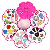 Fashion Flower Case Pretend Play Toy Make Up Case Kit, Washable, Safely Formulated for Children