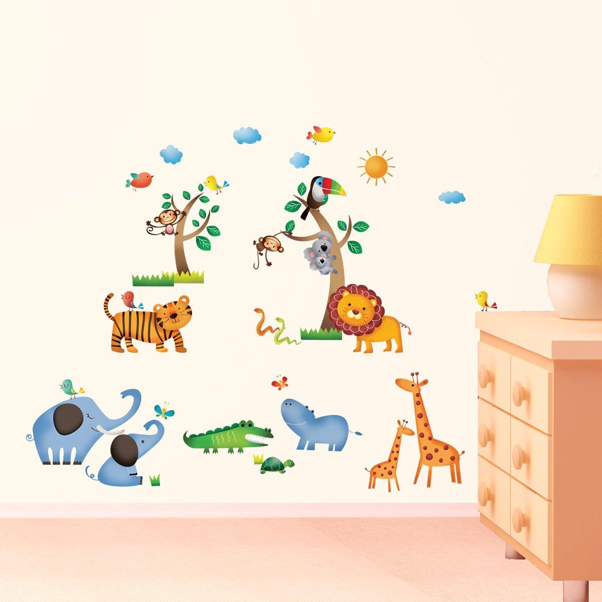 DW-1206 Dschungel Baby Zimmer Wandtattoo/Wandstickers günstig bestellen
