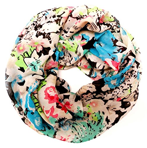 accessu-Echarpe-Foulard-pour-Femme-Multicolor-Floral-Design-blueroseturquoise