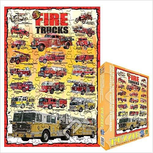 Cheap Eurographics Fire Trucks 100 Piece Jigsaw Puzzle (B0039ZGAFC)