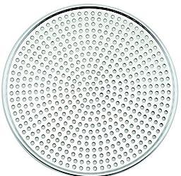 Winco AMS-10, Aluminum Mega Pizza Screen, 10-Inch Inner Diameter and 10.75-Inch Outer Diameter Pizza Crisper, Perforated Pizza Disk