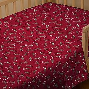Red Sock Monkey Toddler Sheet Top Flat