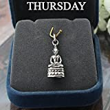 Thai Buddha Pendant Silver Case PANG SAMATHI - Thai Amulet Pendant Birthday Thursday,Made of 92.5 Silver