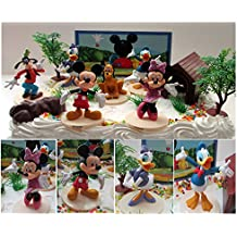 Mickey Mouse Clubhouse Birthday Cake Topper Featuring Mickey Mouse, Minnie Mouse, Donald Duck, Daisy Duck, Goofy...