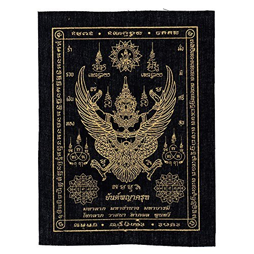 Phra Yant Phaya Krut Garuda Magic Cloth Lucky Life Protection Thai Rare Amulet by Luckyman168
