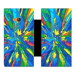 Skintice Designer Flip Cover with Vinyl wrap-around for Microsoft Lumia 540, Design - colorful pattern