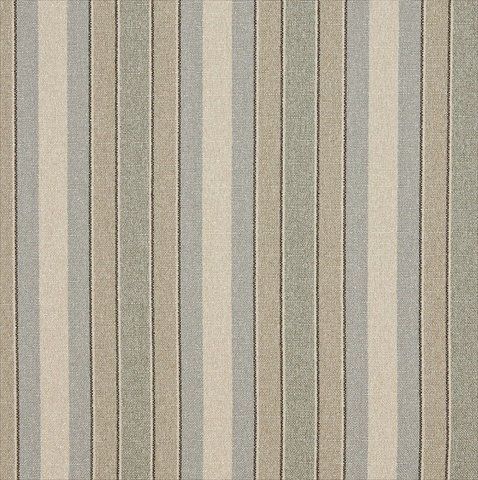 Designer Fabrics D520 54 In. Wide Blue, Beige And Green Striped Washed Linen Woven Upholstery Fabric