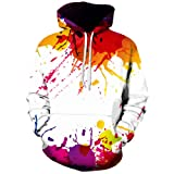 Chic Unisex Hipster Both Side Graffit Printed 3D Harajuku Hoodies Hip Hop Sweatshirt