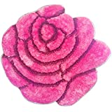 "Super Soft Solid Color Area Rug - Modern Rose Flower Shaped Shag Cozy 35"" floor Mat with 3D affect, Decorative Floral Carpet For Kids Room Boys & Girls, Living Room or Bathroom Home carpet, Made of 100% Polyester"