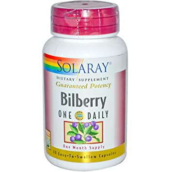 Отзывы Solaray One Daily Bilberry Extract 30 Capsules 160 MG