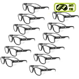 MAGID Y50BKAFC Iconic Y50 Design Series Safety Glasses with Side Shields | ANSI Z87+ Performance, Scratch & Fog Resistant, Comfortable & Stylish, Cloth Case Included, Clear Lens (12 Pair) (Color: Clear Lens, Tamaño: 12 Pair)